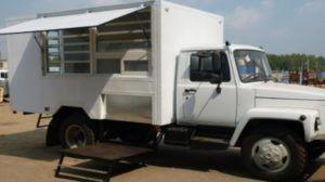 Врезка витрин грузовой фургон, Газель ГАЗ